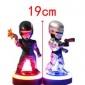 机械战警Q版人物铁甲威龙墨菲可发光手办公仔玩偶摆件模型玩具